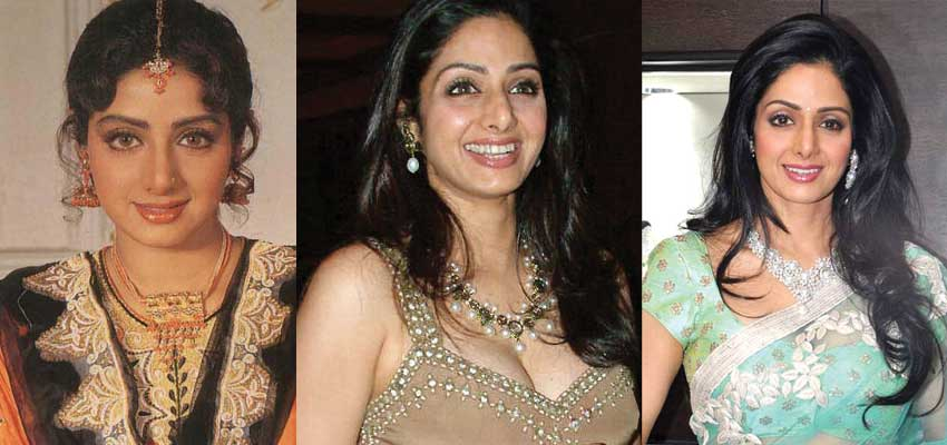 Sridevi Plastic Surgery Before and After 2017